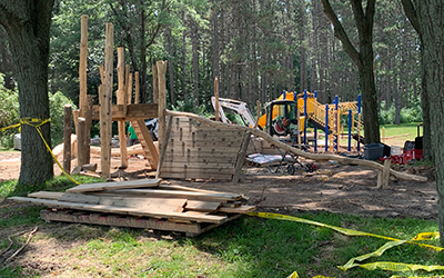 CamRock Playground under construction