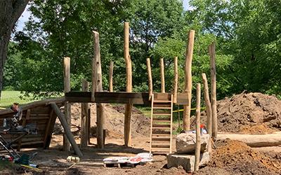 CamRock Playground under construction